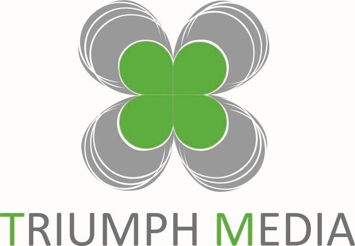 Разработка логотипа  TRIUMPH MEDIA с изображением клевера фото f_5074343905c8e.jpg