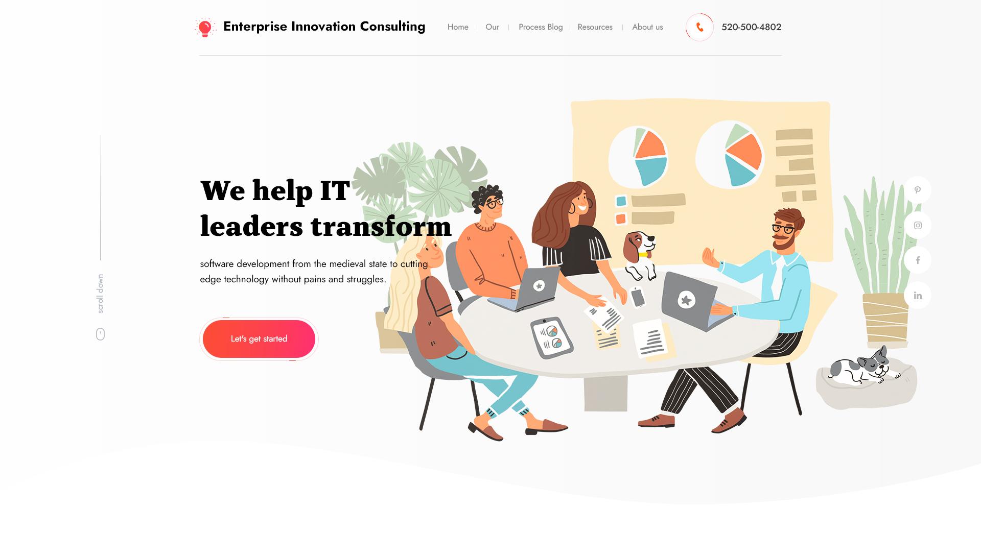 Дизайн сайта для консалтинговой компании в сфере ИТ. фото f_9455ec968470d632.jpg