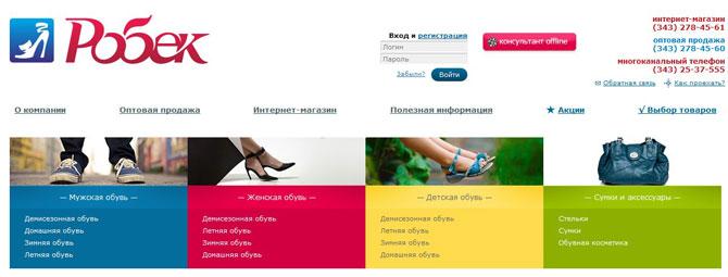 Поисковое продвижение Интернет-магазина обувная тематика