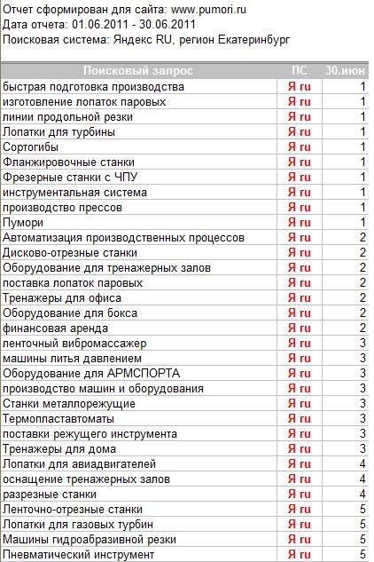 """""""Пумори-СИЗ"""", оптимизация/продвижение"""