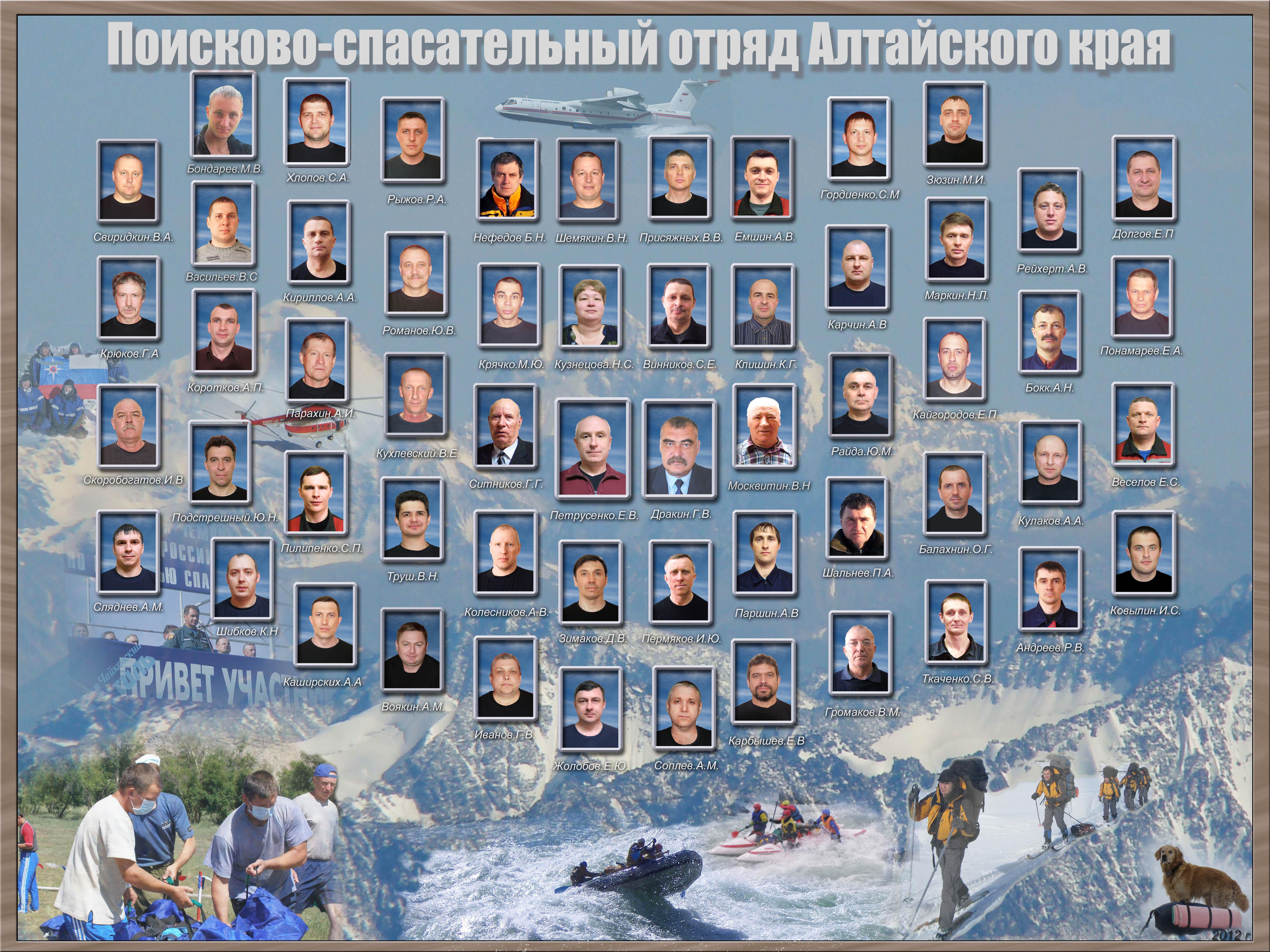 Коллаж отряда ПСО