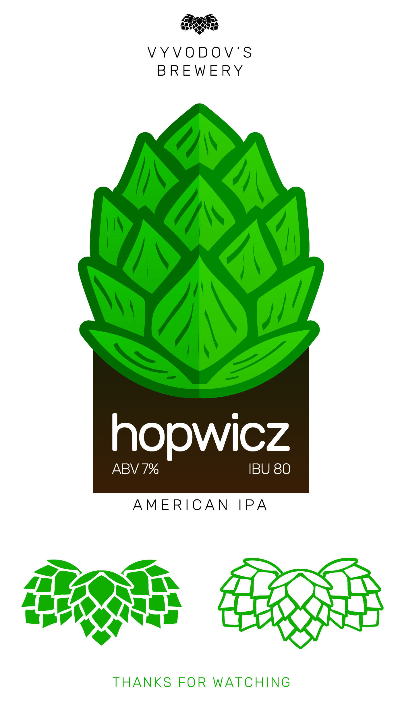 Hopwicz craft beer label