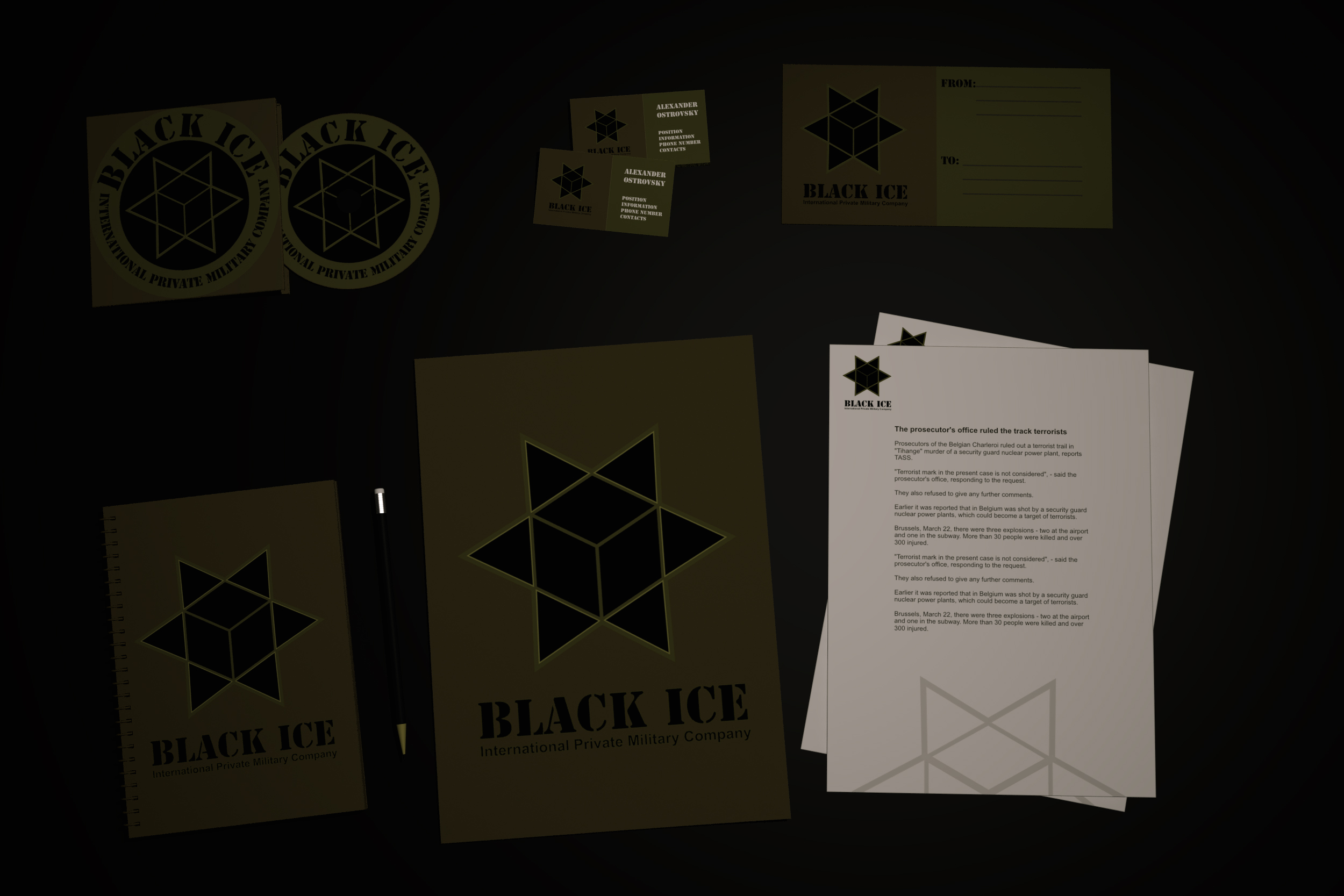 """Логотип + Фирменный стиль для компании """"BLACK ICE"""" фото f_47356f6cb7590c24.jpg"""