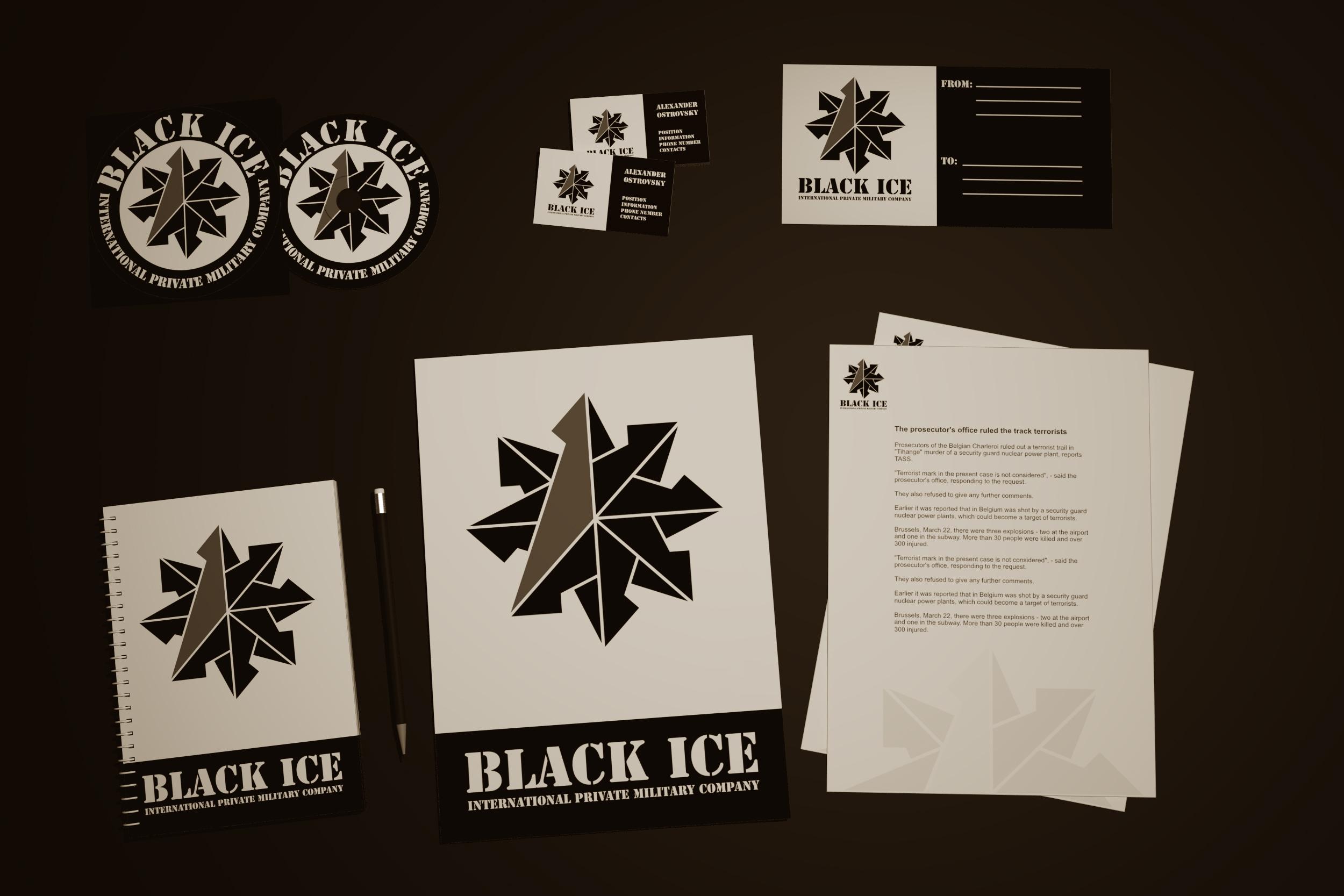 """Логотип + Фирменный стиль для компании """"BLACK ICE"""" фото f_55056f6d6772ee8b.jpg"""