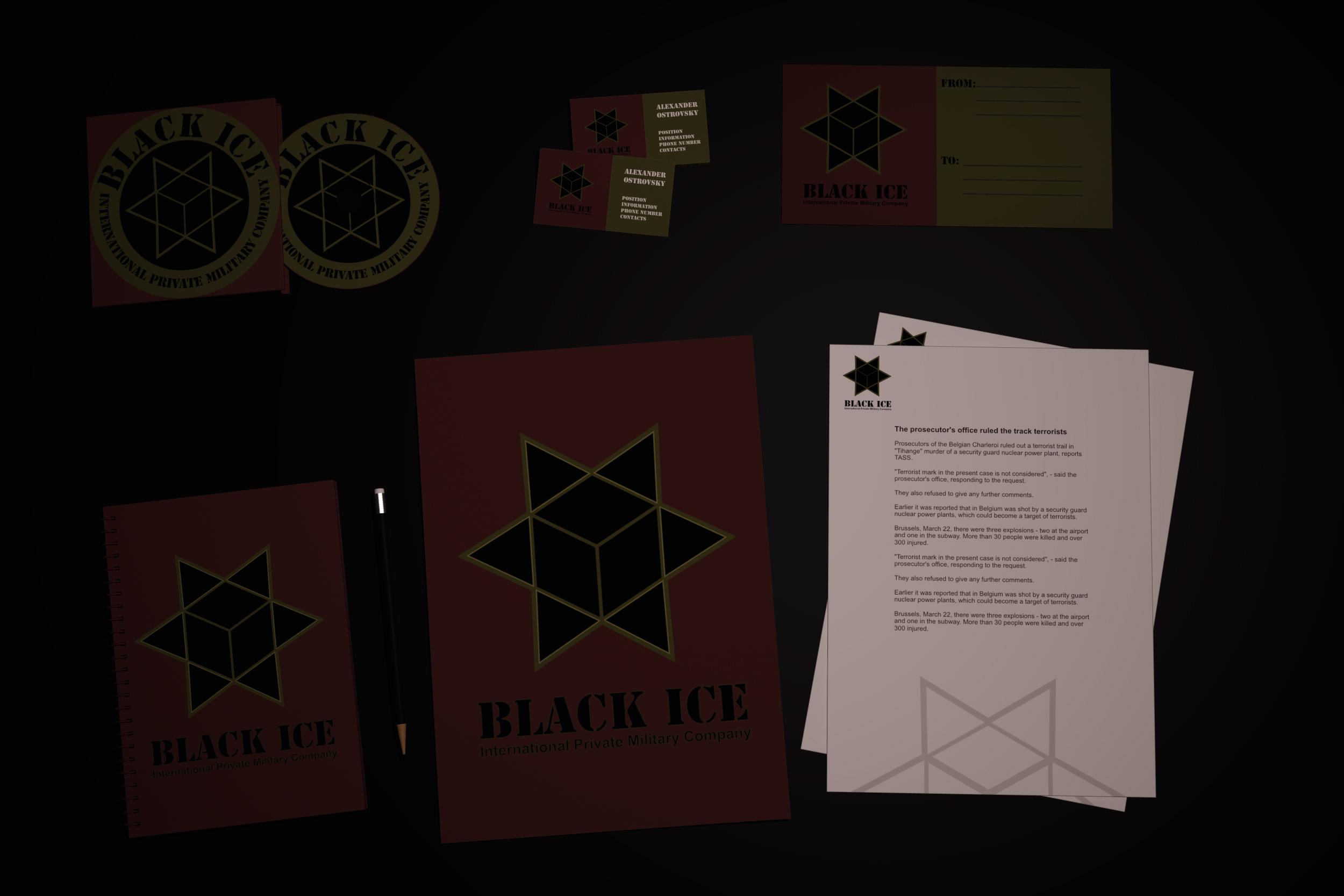 """Логотип + Фирменный стиль для компании """"BLACK ICE"""" фото f_78156f6cb712d52e.jpg"""