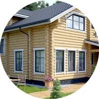 Визуализация Дома из бруса 3