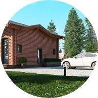 Дом из бруса на основе блоков 2