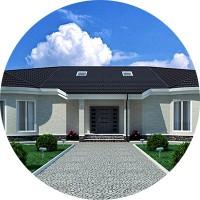Дизайн фасада особняка 1