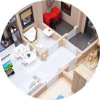 Планировка 1 этажного домика