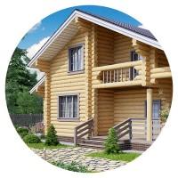 Визуализация Дома из бруса 2