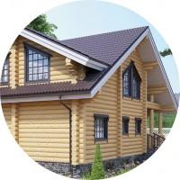Визуализация - Дом из бревна