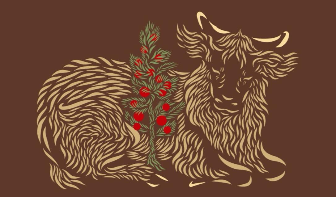 Создать рисунки быков, символа 2021 года, для реализации в м фото f_8895ef10751b3ef4.png