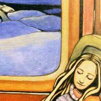 """Из серии """"Бег поездов"""". 120х90 см, масло, маркер, ДВП. 2000 год"""