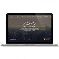 Azaro Company – дизайн сайта