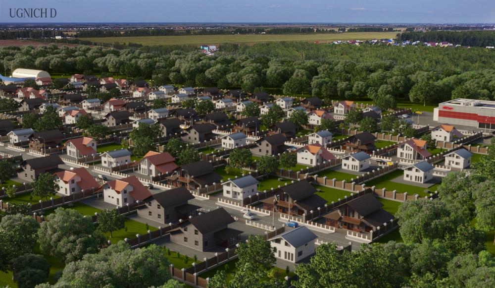Визуализация поселка