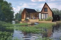Визуализация дома у озера