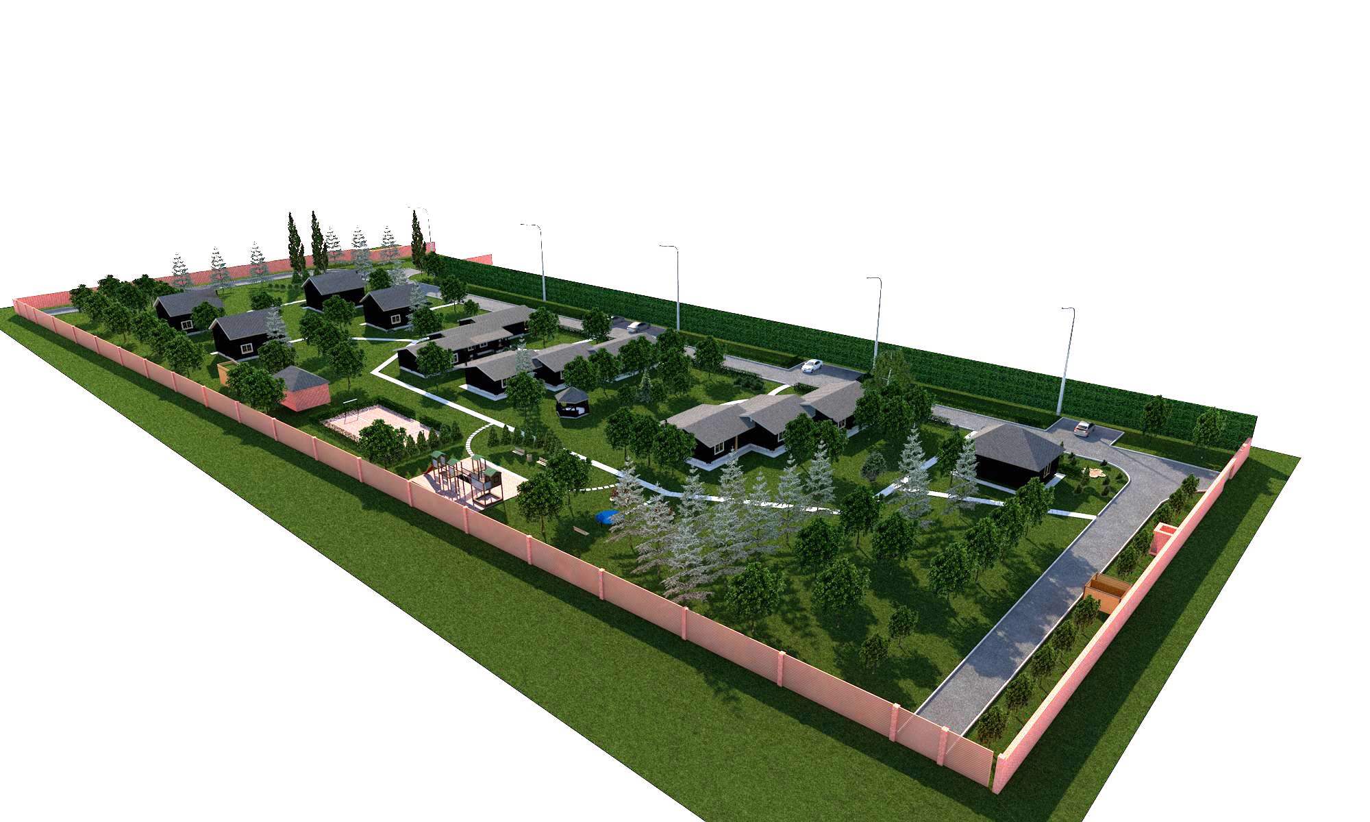 Ландшафтное проектирование базы отдыха