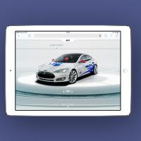 Сайт для планшетов для компании AGC