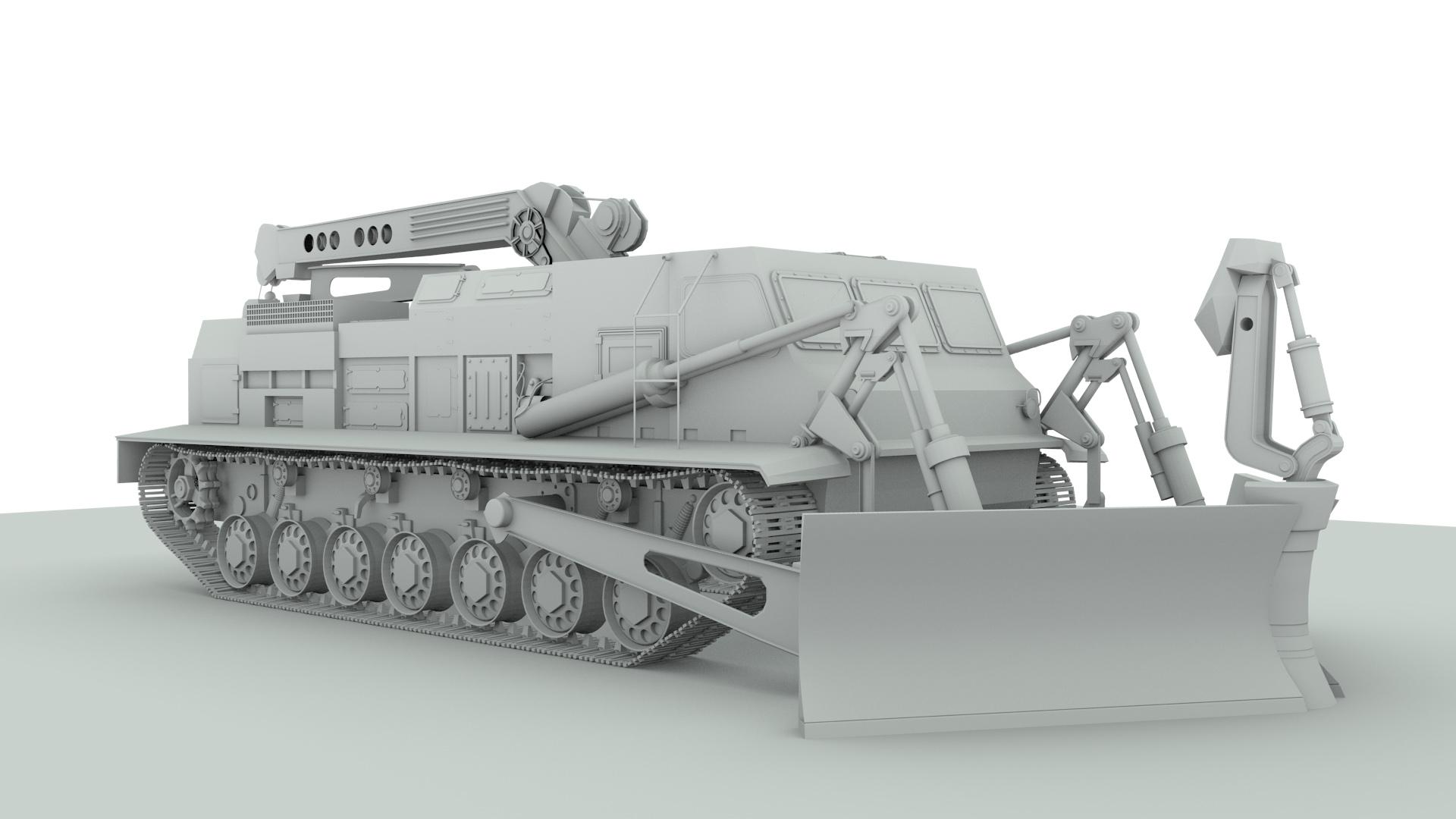 Путепрокладчик БАТ-2 - clay