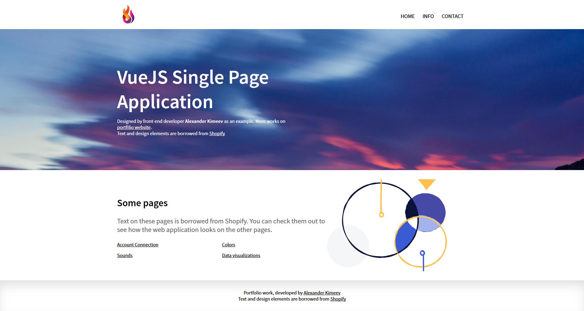 Single Page Blog | Vue.js Приложение (сайт) | Vue.js HTML CSS/SASS