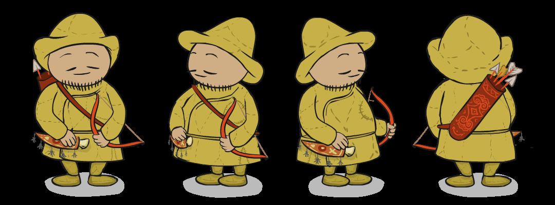 Охотник - персонаж мультика