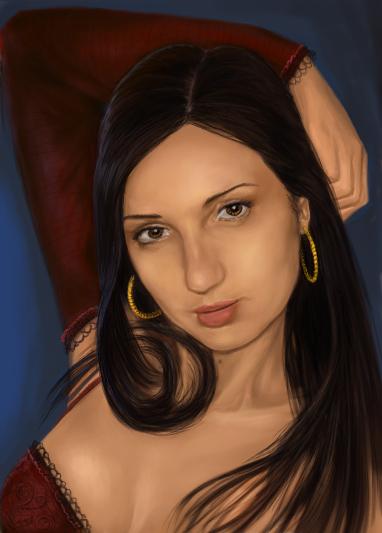 Портрет знакомой девушки