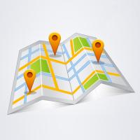 Визуализации объектов на трехмерной карте