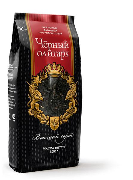 Упаковка чая «Чёрный олигарх»
