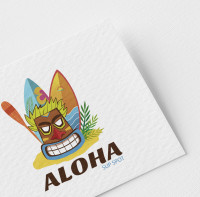 Логотип сёрфинг клуба Aloha