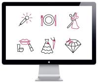 Свадебные иконки (50 штук)