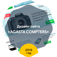 "Дизайн интернет-магазина ""Agasta Computers"" 2015 год"