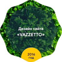 "Дизайн интернет-магазина ""Vazzetto"" 2016 год"