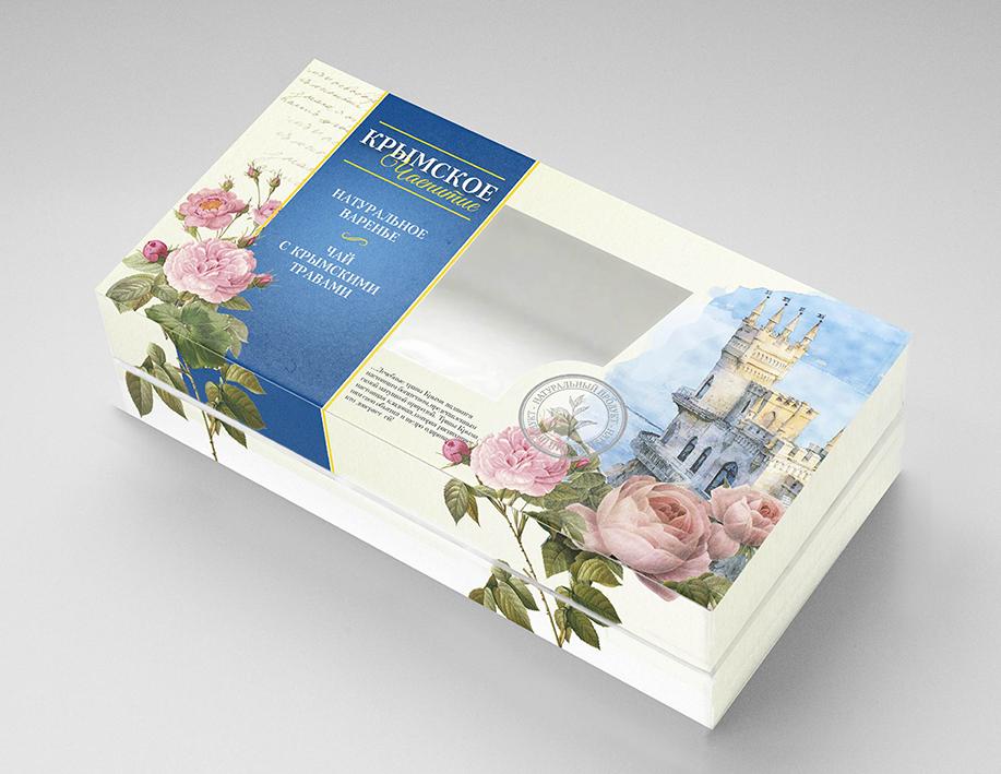 Дизайн подарочной-сувенирной коробки: с чаем и варением фото f_4385a5be043b0e88.png
