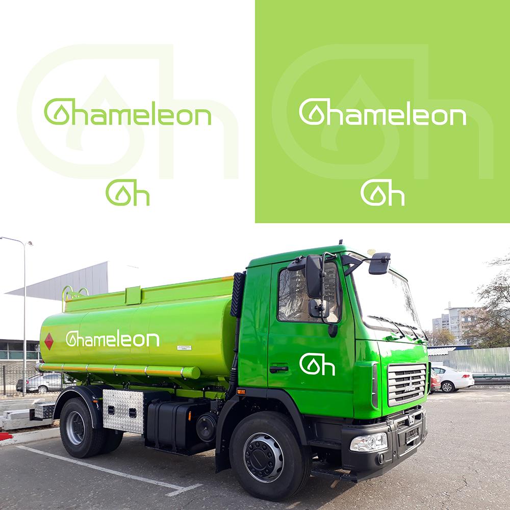 логотип CHAMELEON (автотопливозаправщик)