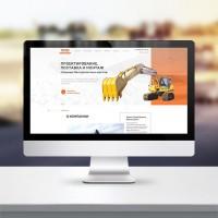 Разработка дизайна сайта по аренде строй. техники ТСБИ