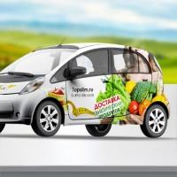 Реклама на авто Здоровое питание