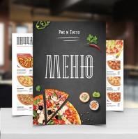"Дизайн меню для ресторана ""Рис и тесто"""
