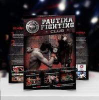 Дизайн листовки для боксерского клуба