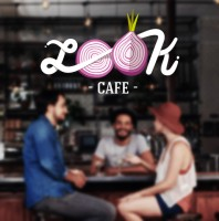 Разработка дизайна логотипа и стилистики для бургер кафе Look cafe