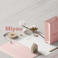 Разработка дизайна логотипа и фирменного стиля Шоу рум \ бьюти бар Miyou