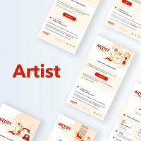 Разработка серии электронных писем для рассылки пользователям и презентацию ПО для хостелов, отелей и гостиниц Artist