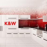 """Разработка дизайна автобрендировная для фирмы, изготавливающей кухни """"K&W"""""""