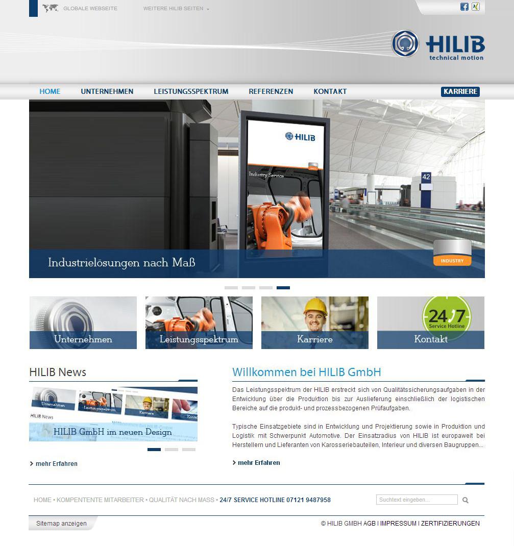 Сайт компании - HILIB GmbH - доработка верстки