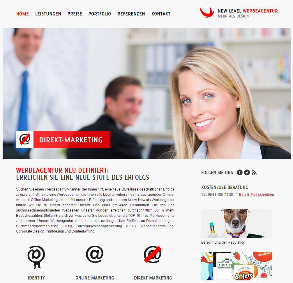 Интернет агентство - New Level (MODX Revolution)