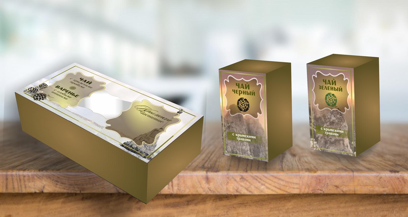 Дизайн подарочной-сувенирной коробки: с чаем и варением фото f_0935a620af14b0a0.png