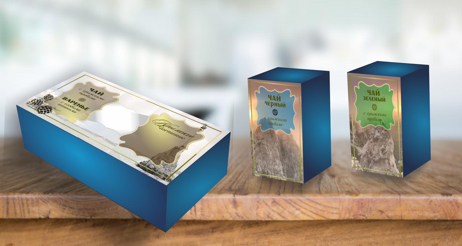 Дизайн подарочной-сувенирной коробки: с чаем и варением фото f_2495a620acc72b50.png