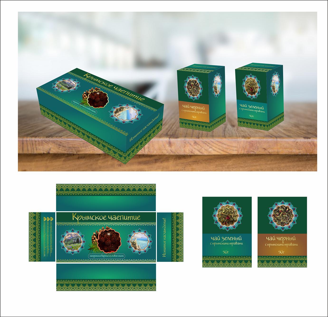 Дизайн подарочной-сувенирной коробки: с чаем и варением фото f_5755a5e685bbf6c3.png