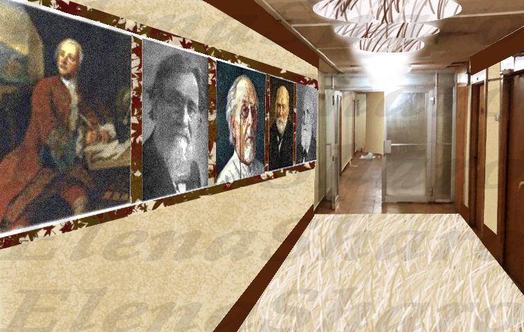 Предложить идею оформления портретов (с информацией) на стене фото f_7675e1a445d6c671.jpg