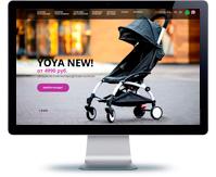 Дизайн интернет-магазина колясок