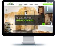 Дизайн сайта Производство гибкого камня